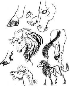 Tasgard horse work in progress by D. D. Phillips (Megera).