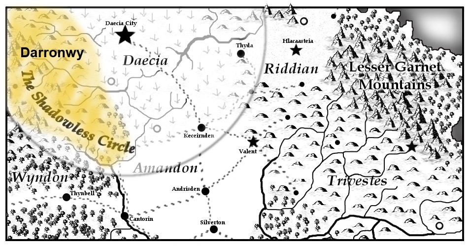 Darronwy Map